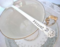 Halloween Poison Spoon  Stamped Teaspoon  POISON by theloosegoose, $14.50