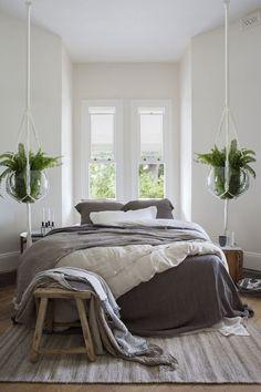 Neutral bedroom. http://www.facebook.com/kenisa.home