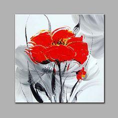 Peint à la main A fleurs/BotaniqueModerne Un Panneau Peinture à l'huile Hang-peint For Décoration d'intérieur de 5938158 2017 à €110.57