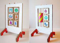 diy cardboard learning toy tutorial