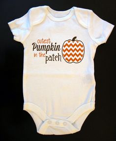 Cutest Pumpkin in the Patch Halloween Fall Onesie or Toddler / Kid's T-Shirt