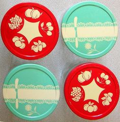 Vintage jelly jar lids
