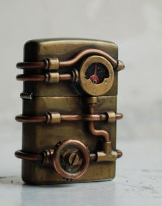 Steampunk Zippo. I love how absolutely unnecessarily and awesomely elaborate this thing is. # WebMatrix 1.0