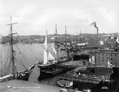 Harbour, St. John, NB, c. 1898--vintage everyday: Old Photographs of Canada from 1858-1935