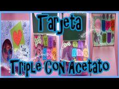Tarjeta Triple Con Acetato//Triple Card With Acetate Tarjetas Para Novio