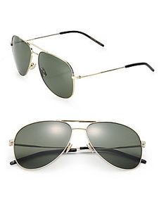 Saint Laurent Classic  59mm Oversize Aviator Sunglasses