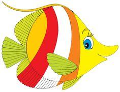 SGBlogosfera. María José Argüeso: PECES DE COLORES Fish Outline, Fish Clipart, Cartoon Fish, Angel Fish, Fish Art, Nautical Theme, Pebble Art, Fabric Painting, Sea Creatures