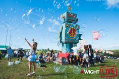Bubbles and robots - they're both at Bestival #wightlive