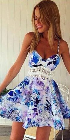Blue flower dress❤️