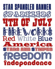 Fourth of July subway art printable 4th Of July Celebration, 4th Of July Party, Fourth Of July, 4th Of July Pics, Beyonce, Independance Day, Patriotic Party, Patriotic Crafts, Patriotic Decorations