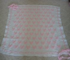 pink raised hearts afghan