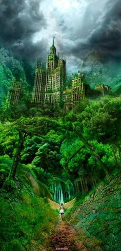 fantasy landscape ~ future NY...This gives me an idea for the Shade...
