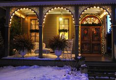 Cape May bed-and-breakfasts in the snow. Christmas, winter, holidays, Cape May Point, Ocean City, Jersey Cape, Cape May County, New Jersey