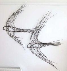 Willow birds in flight