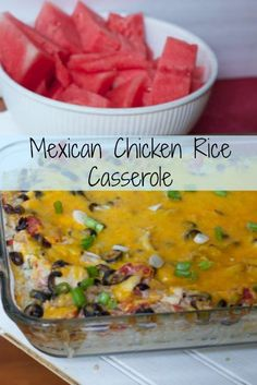 tex mex rice casserole recipe is the perfect dinner using a rotisserie chicken. Just serve a salad on the side for a quick weeknight dinner (ad) #EffortlessMeals