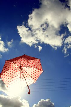 Lovely umbrella in the sky