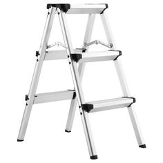 Aluminum Ladder Non Slip 5 Step Foldable 150kg Weight