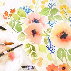 Did you happen to catch my announcement the other day? Well if you haven't, I'll be holding my first watercolor floral workshop in Dubai on the 15th of April in association with Pretty Paper Studio ( @ppsuae ) .  So if you're in Dubai, don't forget to hea