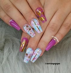 "Trung Nguyen on Instagram: ""Custom nails design #allacrylic #coloracrylic #nails #nails #nailart #nailsonfleek #nailswag #nailstagram #nailsaddict #nailpro #vegas…"""