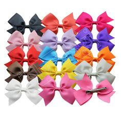 Girls Kids Hair Clips Ribbon Headband, 20pcs *** Check out this great product. (This is an Amazon affiliate link)