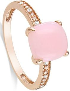 Rose gold, pink opal and diamond ring... I've never liked gold much but I am getting more and more into it