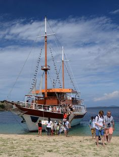 #Beach in #Sithonia, #halkidiki, Greece. Halkidiki Greece, Sailing Ships, My Photos, Boat, Colours, Dinghy, Boats, Tall Ships