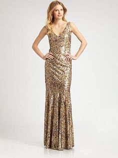 David Meister Sequined Gown at ShopStyle