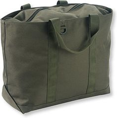 L.L.Bean Hunter's Tote Bag- Simple, straightforward looks belie the versatile utility of the L.L.Bean Hunter's Tote Bag ($25-$35). Available in three sizes, this all-purpose bag is made to stand up to abuse of the outdoorsman with features like a 1,200-denier polyester shell, durable, water-resistant thermoplastic interior coating, a full-length zipper top, overlapped seams, and an extra layer of polyester reinforcement for the bottom.