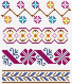 Cross Stitch | Borders xstitch Chart | Design