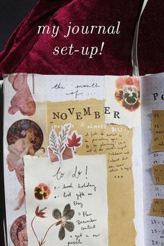 My November Bullet Journal! - . . . Life. Bullet Journal Set Up, Bullet Journal Ideas Pages, Primary School Art, Art School, Friend Moving Away, Blog Planning, Seed Paper, Dream Book, Vintage Lettering