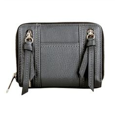 Karla Hanson - Grey Women's Wallet - $49.99/each This Ladies Fashion Wallet is made from cow leather with a golden finish, approximately 13 x 2 x 9.5 cm. Presented by  www.ecomcreator.com Fashion Wallet, Ladies Fashion, Womens Fashion, Wallets For Women Leather, Cow Leather, Leather Wallet, Burgundy, Purple, Grey