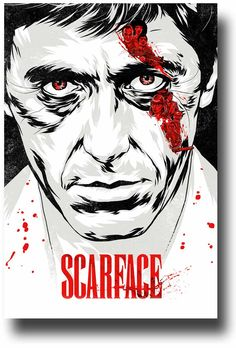 scarface film movie Art Print Framed Canvas green painting not poster Best Movie Posters, Cinema Posters, Movie Poster Art, Poster Poster, Print Poster, Film Scarface, Scarface Poster, Film Mythique, Action Movies