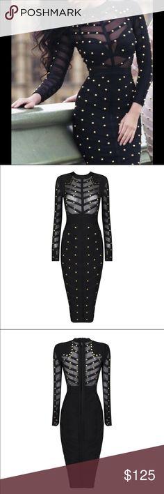 New🔥Studded Bandage Dress Studded Bandage Mesh Dress.. Material: Rayon, Nylon and Spandex Dresses