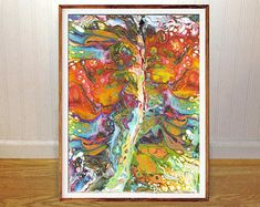 Tree wall art print, tree of life, abstract art, home wall decor, apartment wall art, gift, poster, vacation cottage art, downloadable print