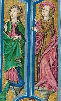 Furtmeyr-Bibel (Deutsche Bibel, Altes Testament, Bd. 1: Genesis - Rut) um 1468 - 1470 Sign. Cod.I.3.2.III (Oettingen-Wallersteinsche Bibliothek) Folio: 2v
