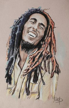 Image result for bob marley drawing