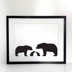 Image of Bear Silhouette Family Portrait, Build Your Own