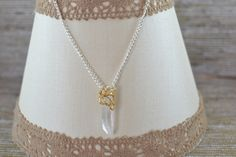 FUF 3/6/15 B.Accessorized Crystal wand necklace with a leaf from B'Sue Boutiques
