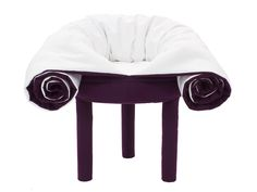 collerette convertible blanket pouf by les M for casamania