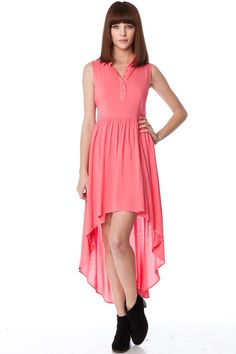 ShopSosie Style : Cross The Back Dress in Coral