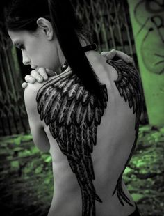 45 Sexy Angel Tattoo Designs for Girls and Boys - Beste Tattoo Ideen Angel Wings Tattoo On Back, Angel Tattoo For Women, Wing Tattoos On Back, Tattoos For Women, Love Tattoos, Sexy Tattoos, Beautiful Tattoos, Body Art Tattoos, Fashion Tattoos