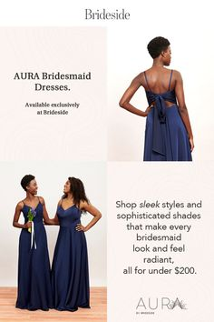 Sleek, modern styles in beautiful colors and fabrics. From crystalline neutrals to lush jewel tones, there's a color for every bridal party look. Bridal Dress Stores, Wedding Attire, Wedding Dresses, Bridesmaid Dresses Online, Party Looks, Jewel Tones, Lush, Stylists, Fabrics