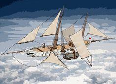 Flying Imp, Elven Spelljammer by juanosarg.deviantart.com on @DeviantArt