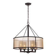 Elk Lighting 'Diffusion' 4-light Oil-rubbed Bronze Chandelier - Overstock™ Shopping - Great Deals on ELK LIGHTING Chandeliers & Pendants