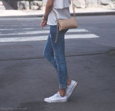 Love all white chucks