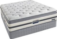 Simmons Beautyrest Recharge Queen Classic Plush Firm Pillow Top Mattress and Boxspring Set