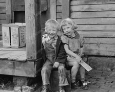 Children From The Depression 1940 Vintage 8x10 Reprint Of Old Photo