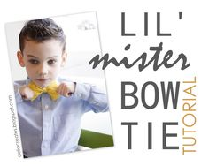 Lil' Mister Bow Tie - delia creates