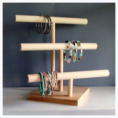 Three Tier Jewelry Watch & Headband Organizer Retail Product Display Stand Craft Show Rack Mens Baby Headband Holder Jewlery Storage Bangle