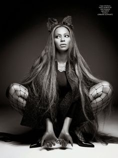 Beyoncé in Saint Laurent photographed by Pierre Debusschere for CR Fashion Book, Issue 5, Fall 2014.